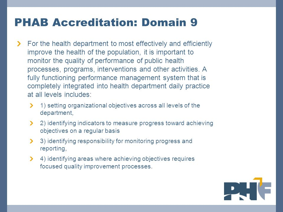 PHAB Accreditation: Domain 9