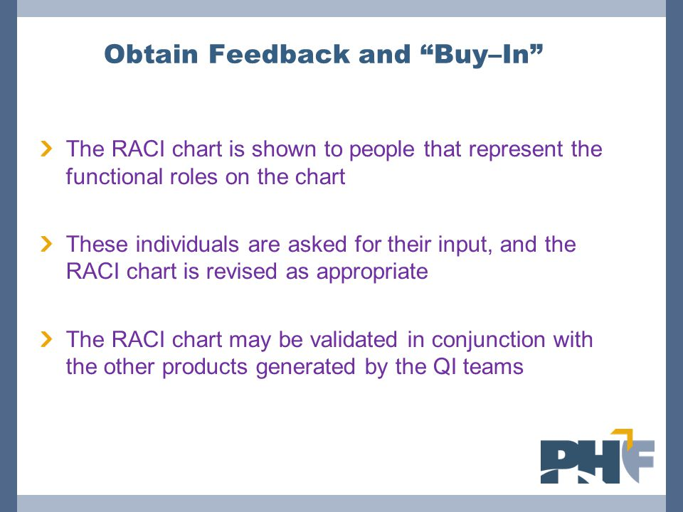 Obtain Feedback and Buy–In
