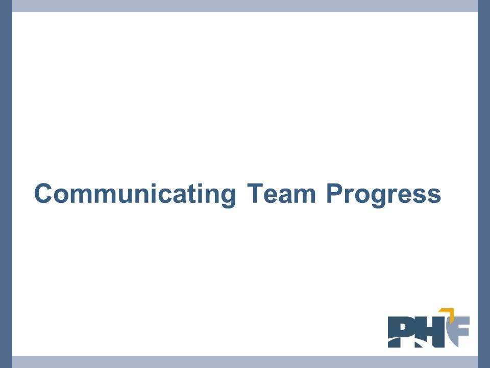 Communicating Team Progress