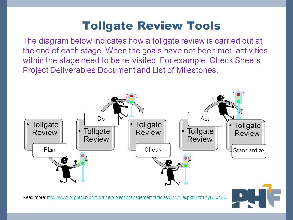 Tollgate Review Tools