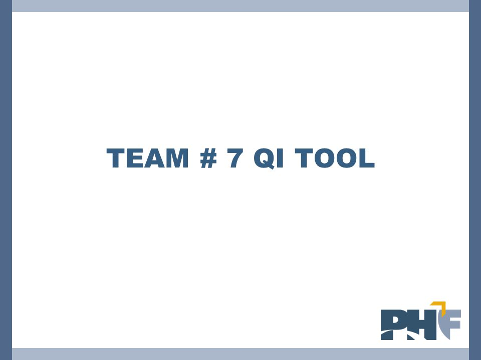 Team # 7 QI Tool