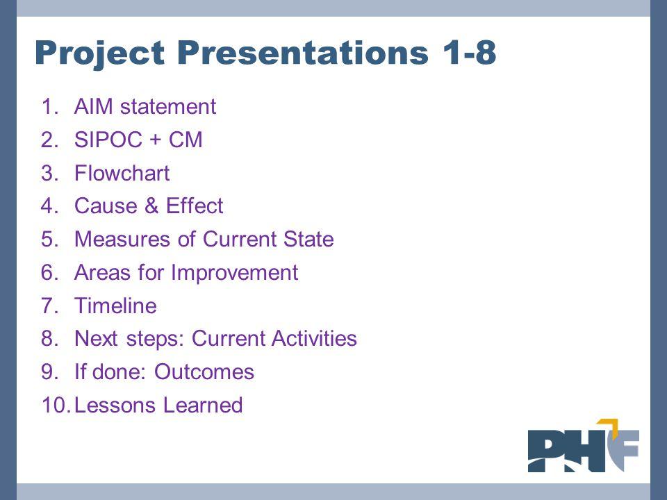 Project Presentations 1-8