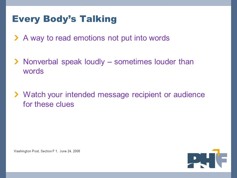 Every Body's Talking A way to read emotions not put into words