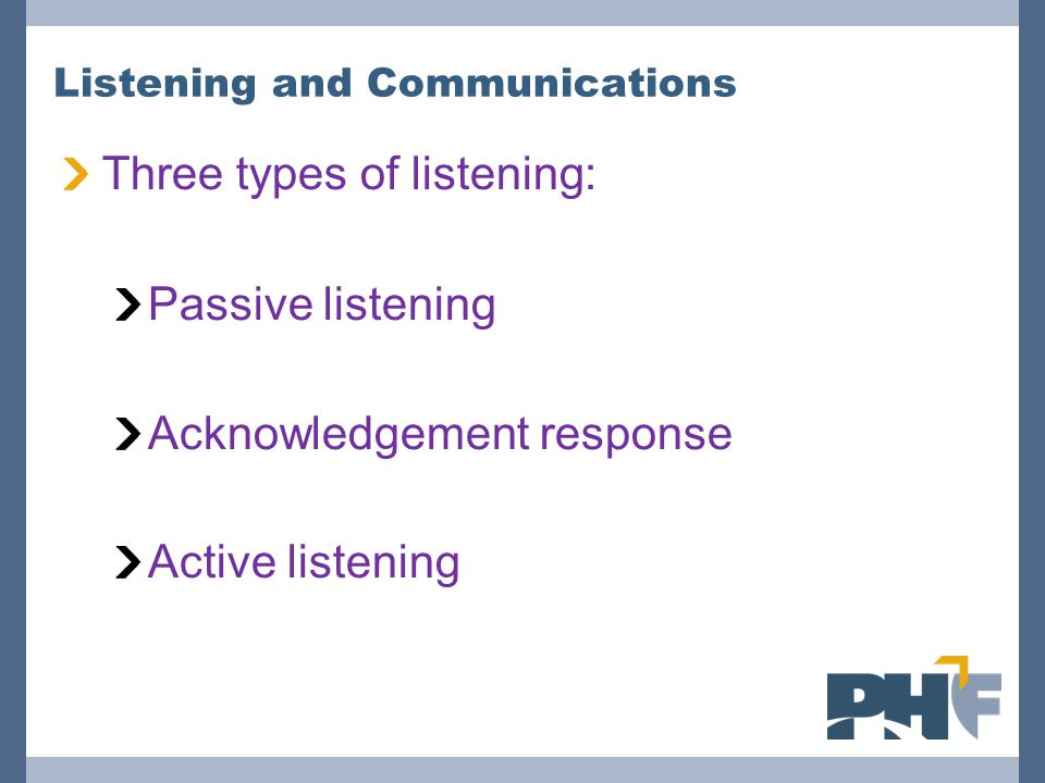 Listening and Communications