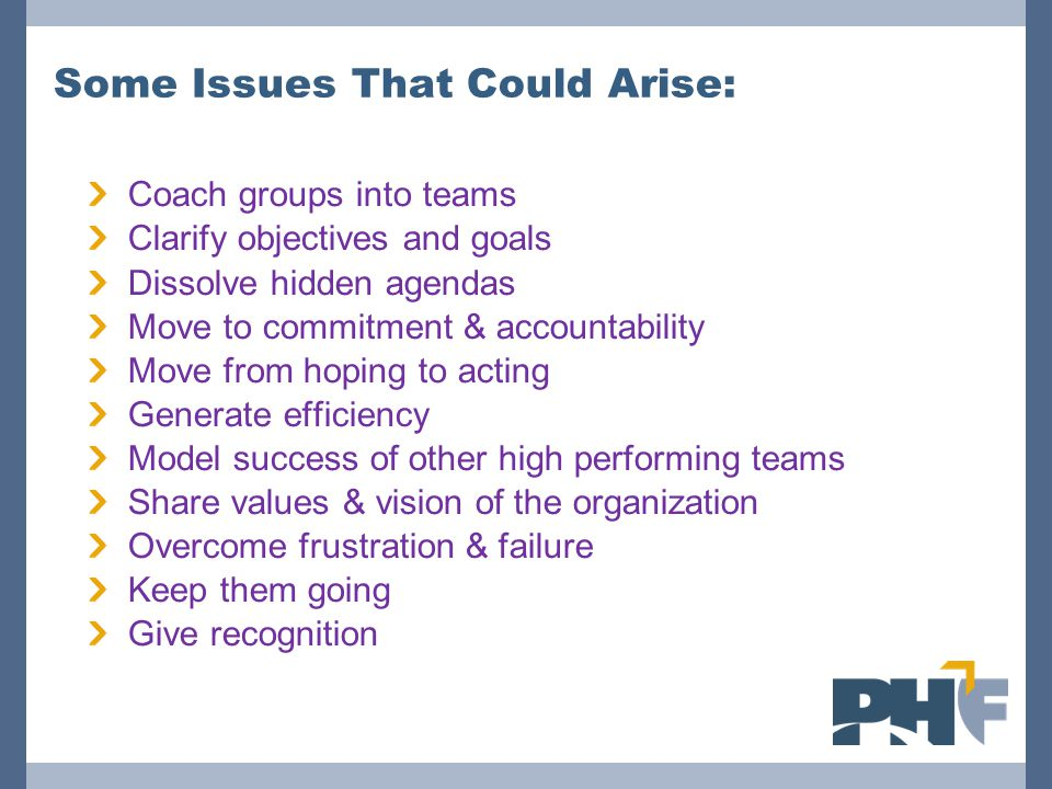 Some Issues That Could Arise: