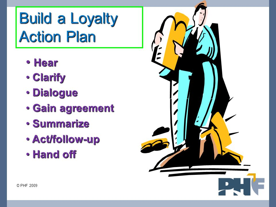 Build a Loyalty Action Plan