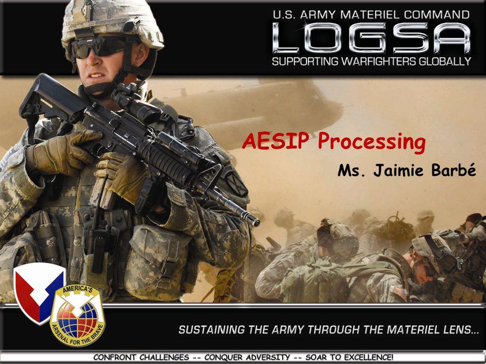 AESIP Processing Ms. Jaimie Barbé