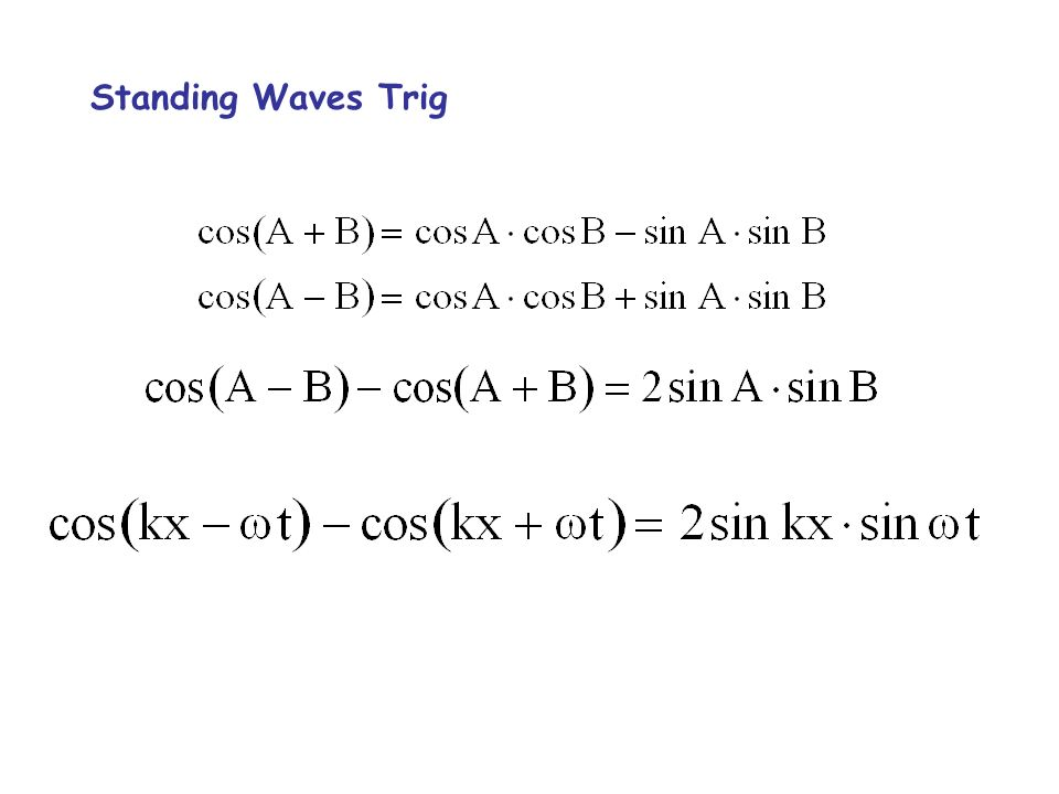 Standing Waves Trig