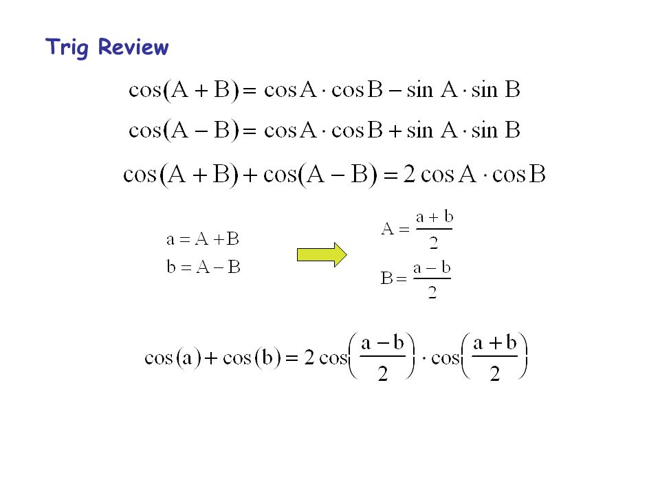 Trig Review