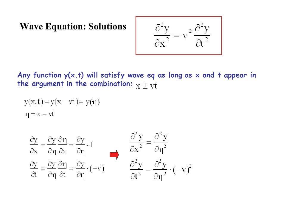Wave Equation: Solutions