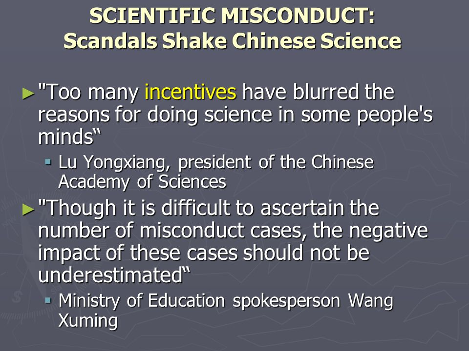 SCIENTIFIC MISCONDUCT: Scandals Shake Chinese Science