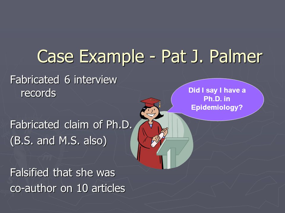 Case Example - Pat J. Palmer