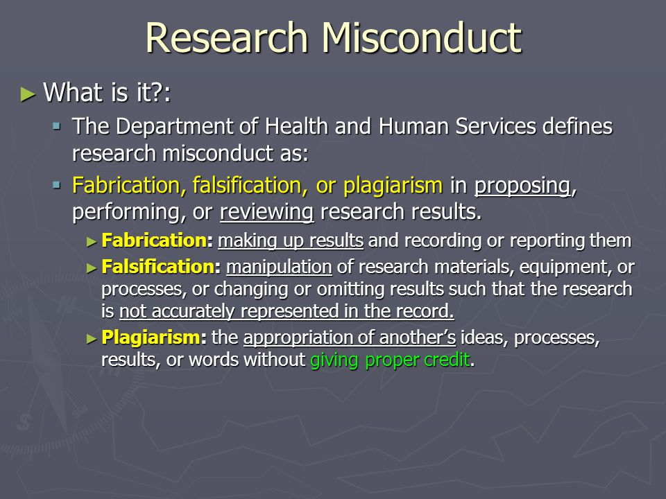 Research Misconduct What is it :