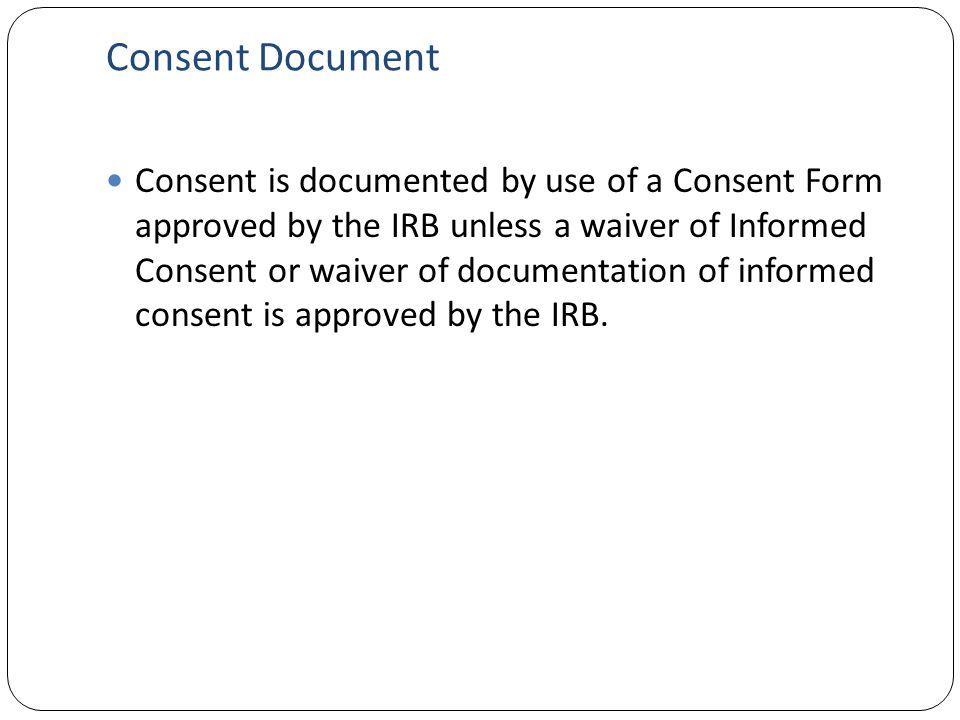 Consent Document