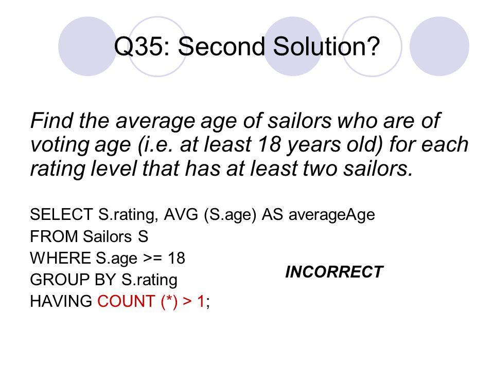 Q35: Second Solution