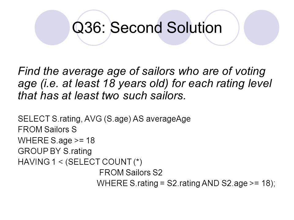 Q36: Second Solution