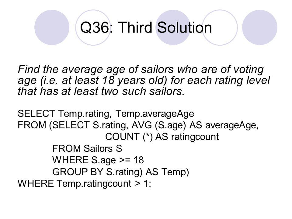 Q36: Third Solution