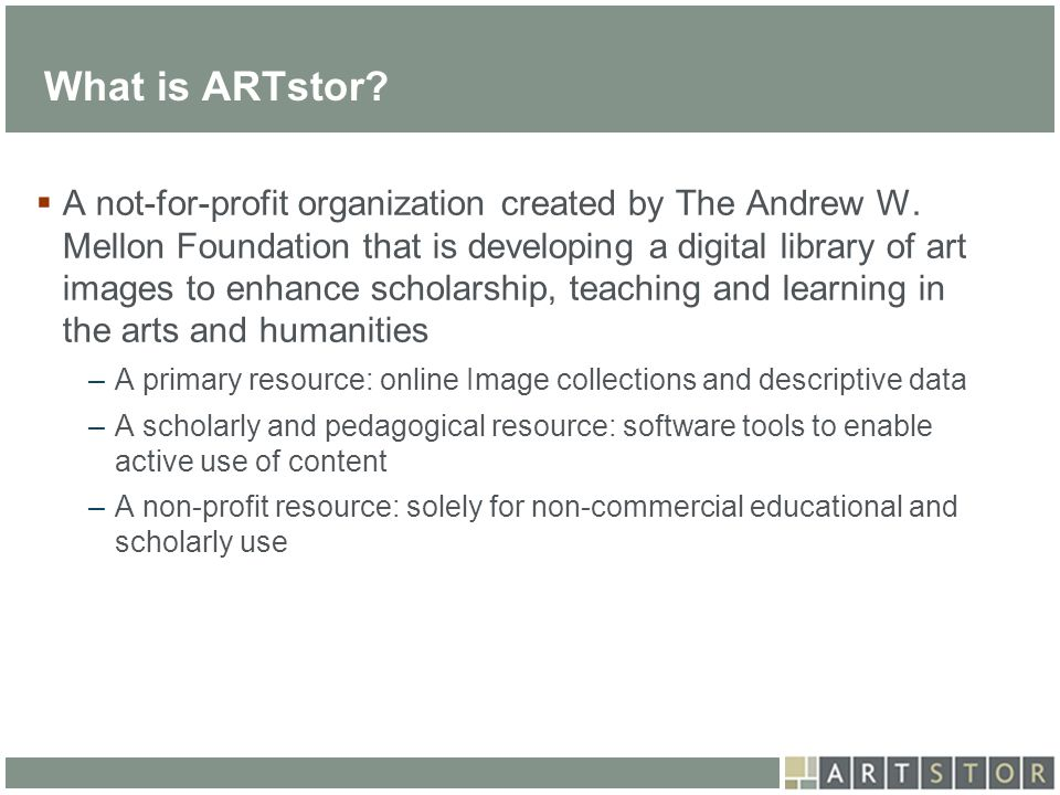 What is ARTstor