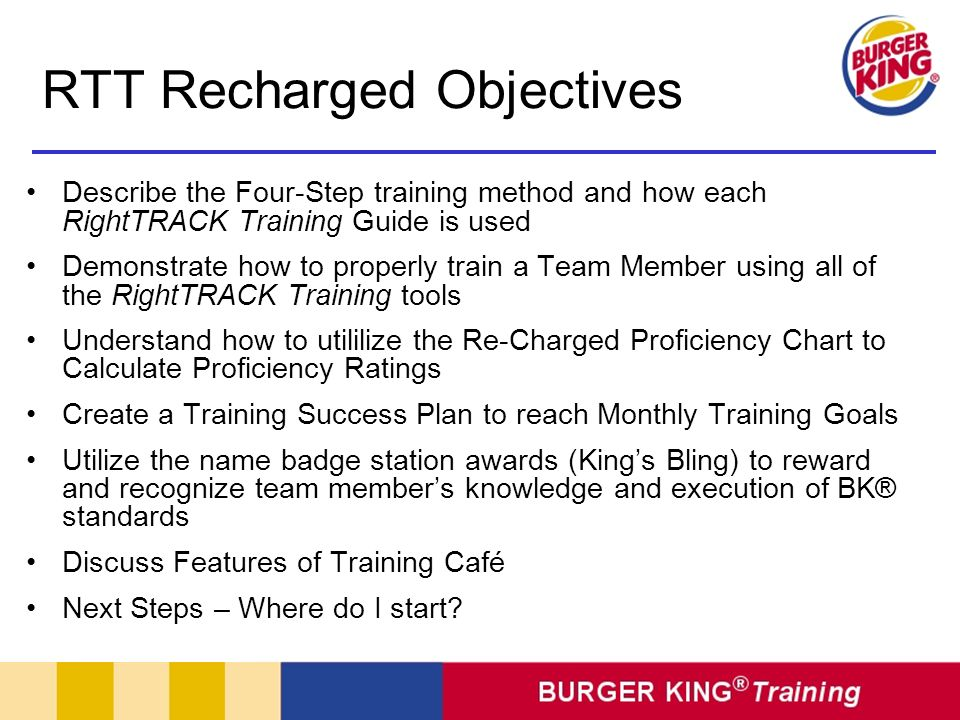 RTT Recharged Objectives