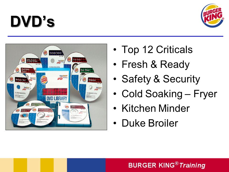 DVD's Top 12 Criticals Fresh & Ready Safety & Security