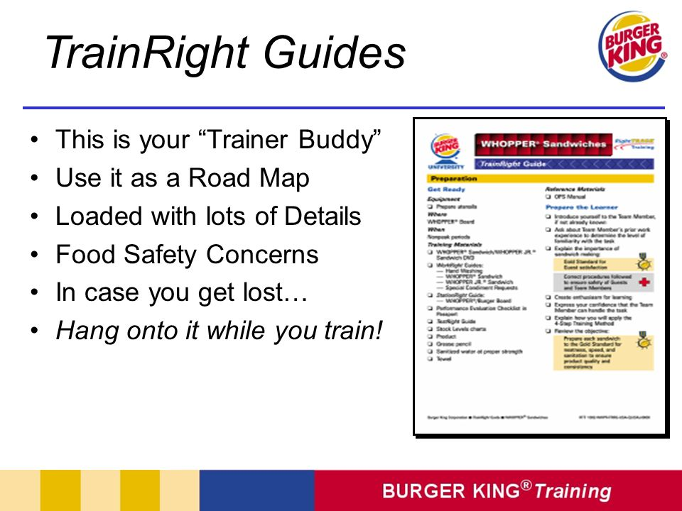 TrainRight Guides This is your Trainer Buddy Use it as a Road Map