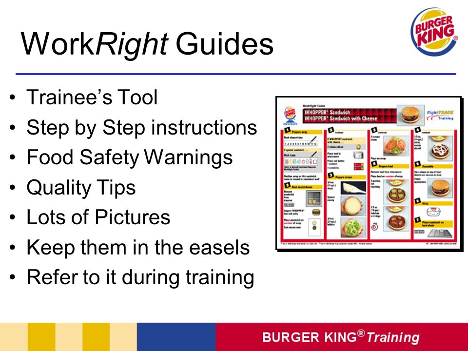 WorkRight Guides Trainee's Tool Step by Step instructions