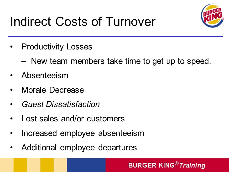 Indirect Costs of Turnover