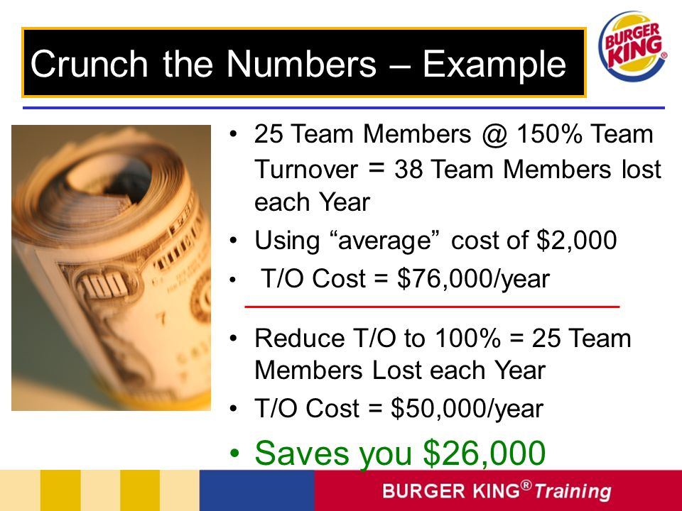 Crunch the Numbers – Example