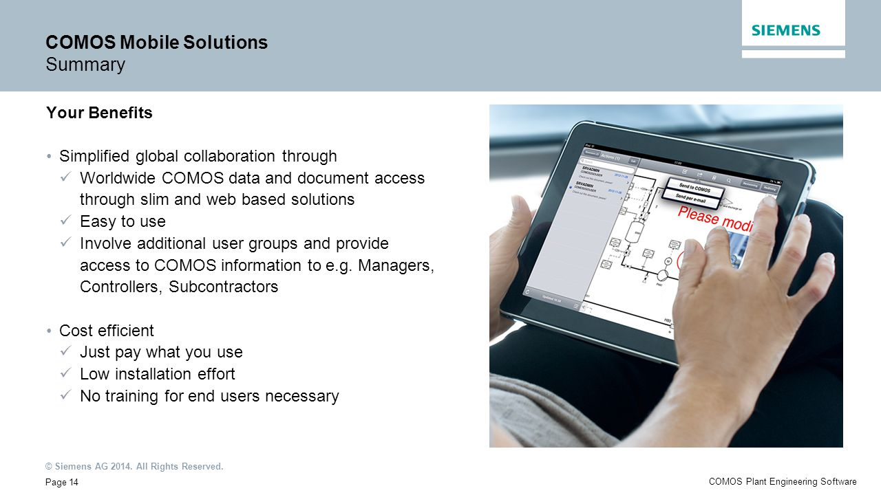 COMOS Mobile Solutions Summary