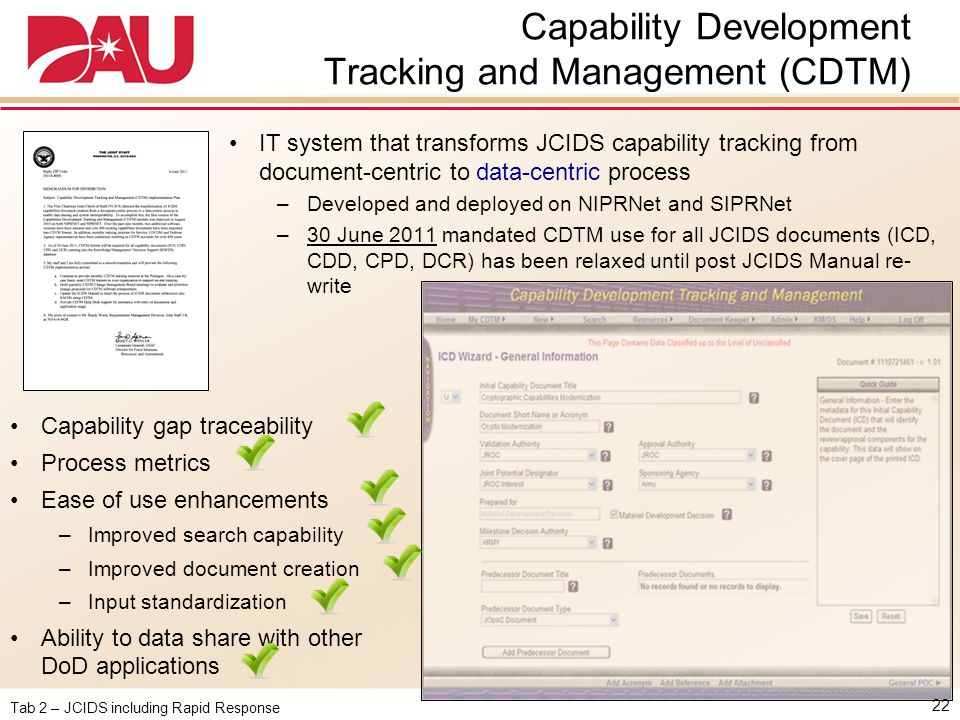 Capability Development Tracking and Management (CDTM)