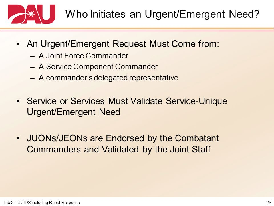 Who Initiates an Urgent/Emergent Need