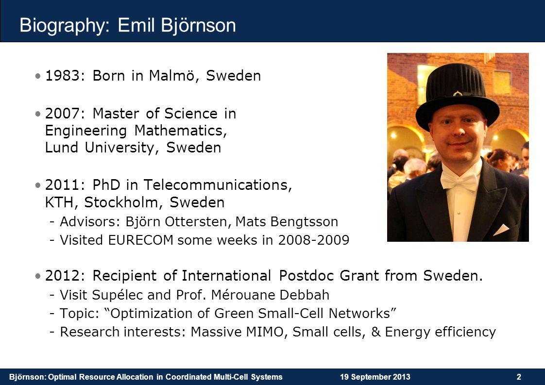 Biography: Emil Björnson