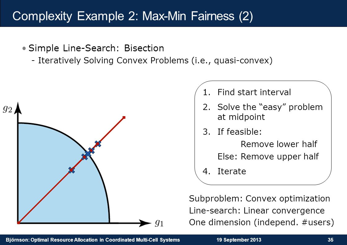 Complexity Example 2: Max-Min Fairness (2)