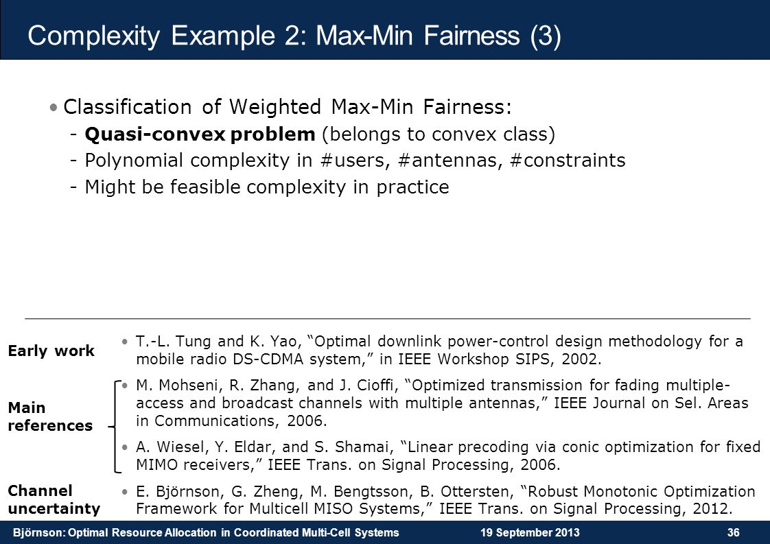 Complexity Example 2: Max-Min Fairness (3)