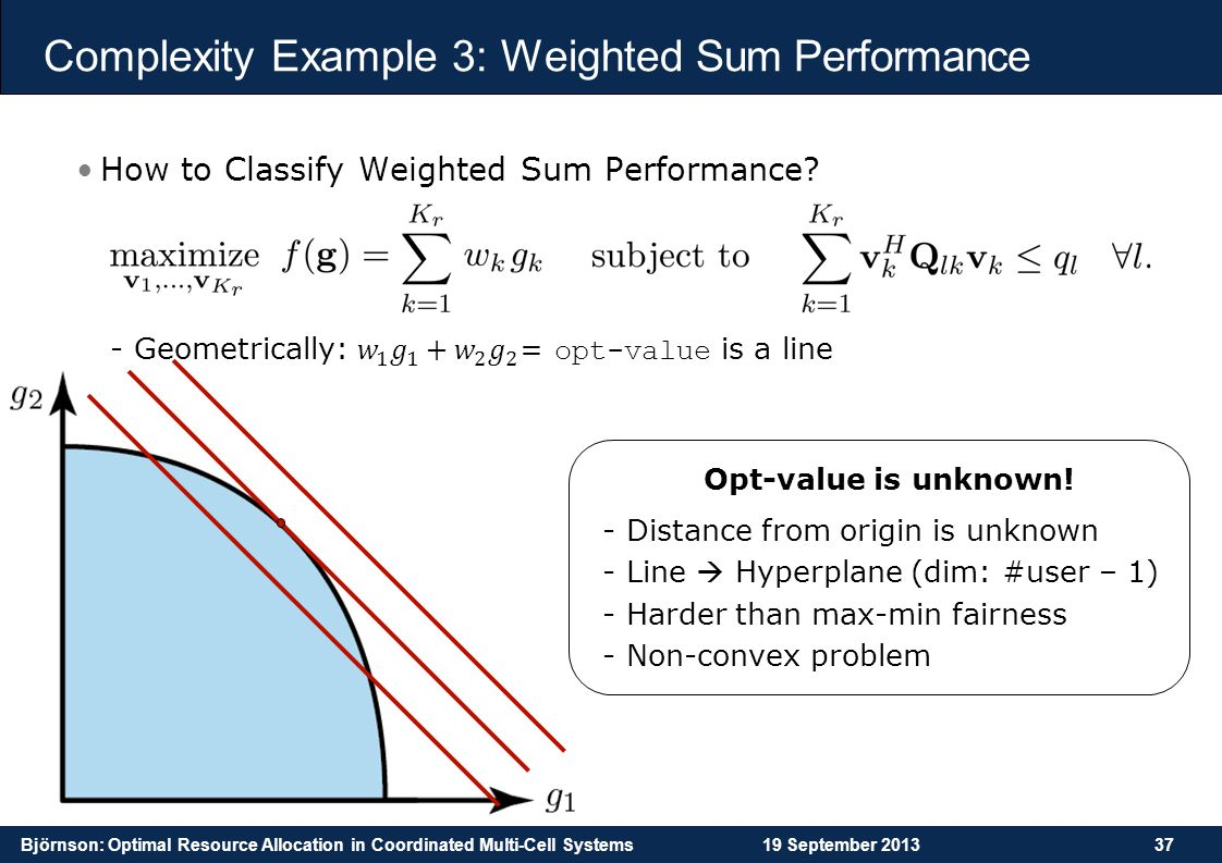 Complexity Example 3: Weighted Sum Performance