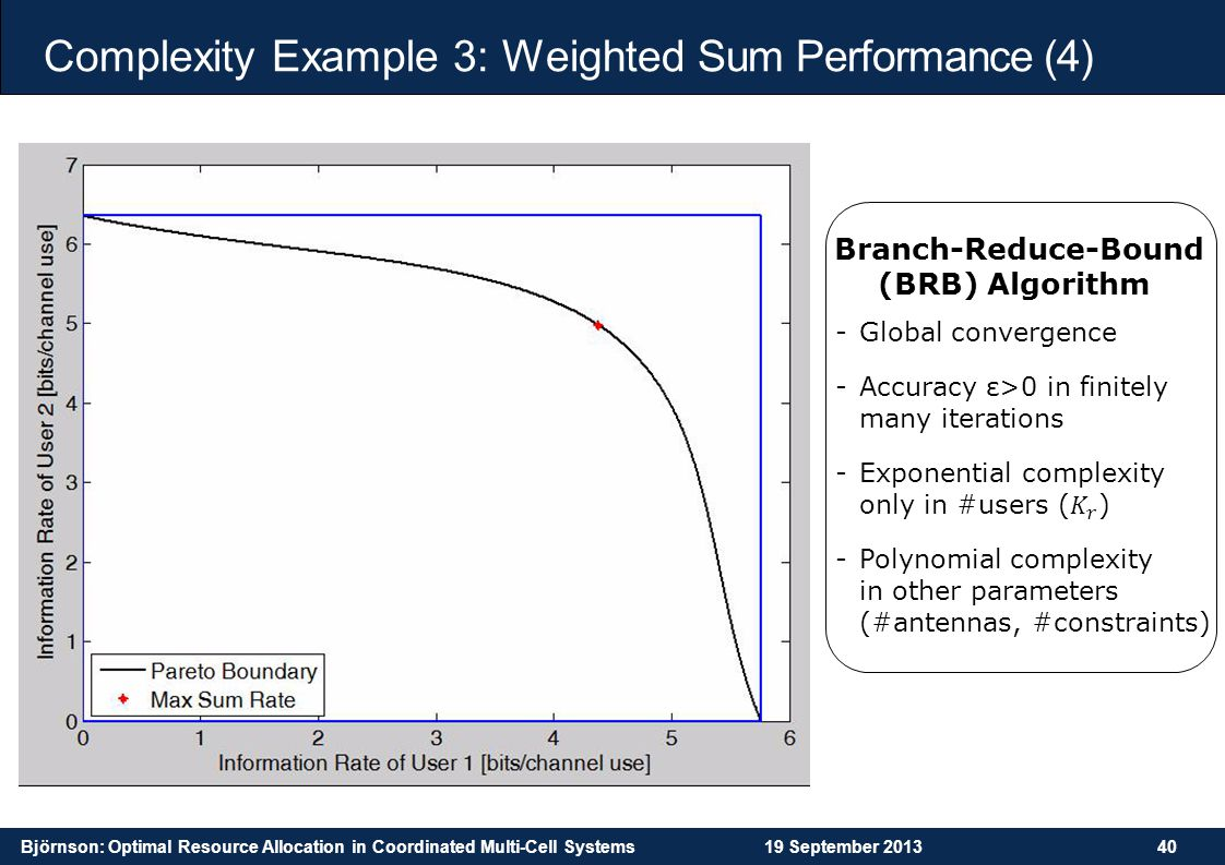 Complexity Example 3: Weighted Sum Performance (4)