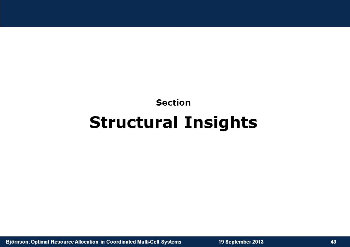 Structural Insights Section