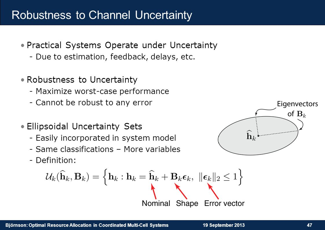 Robustness to Channel Uncertainty