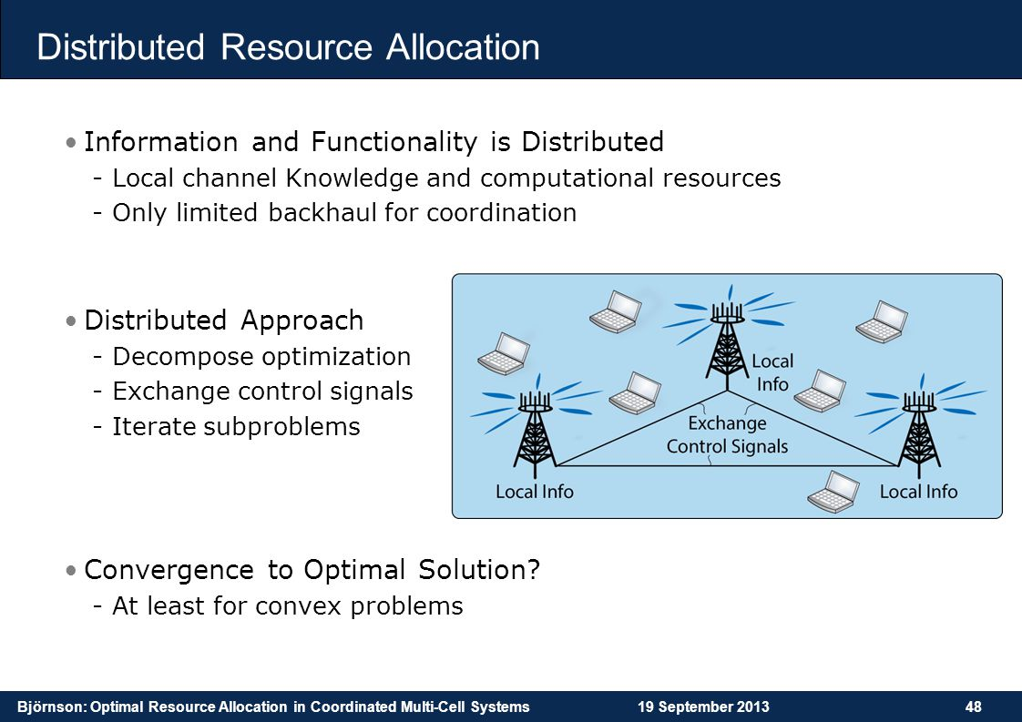 Distributed Resource Allocation