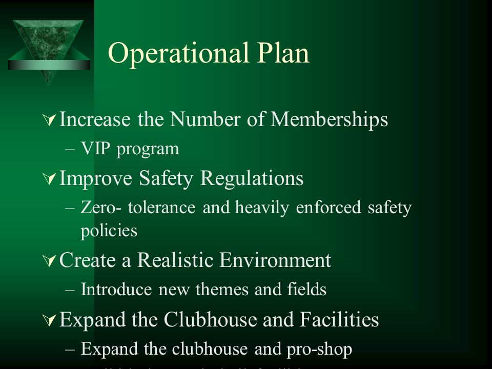 Operational Plan Increase the Number of Memberships