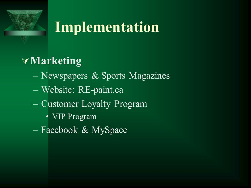 Implementation Marketing Newspapers & Sports Magazines