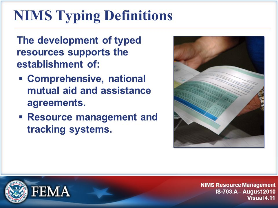 NIMS Typing Definitions