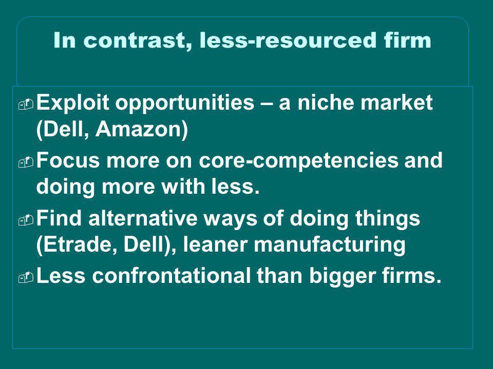 In contrast, less-resourced firm