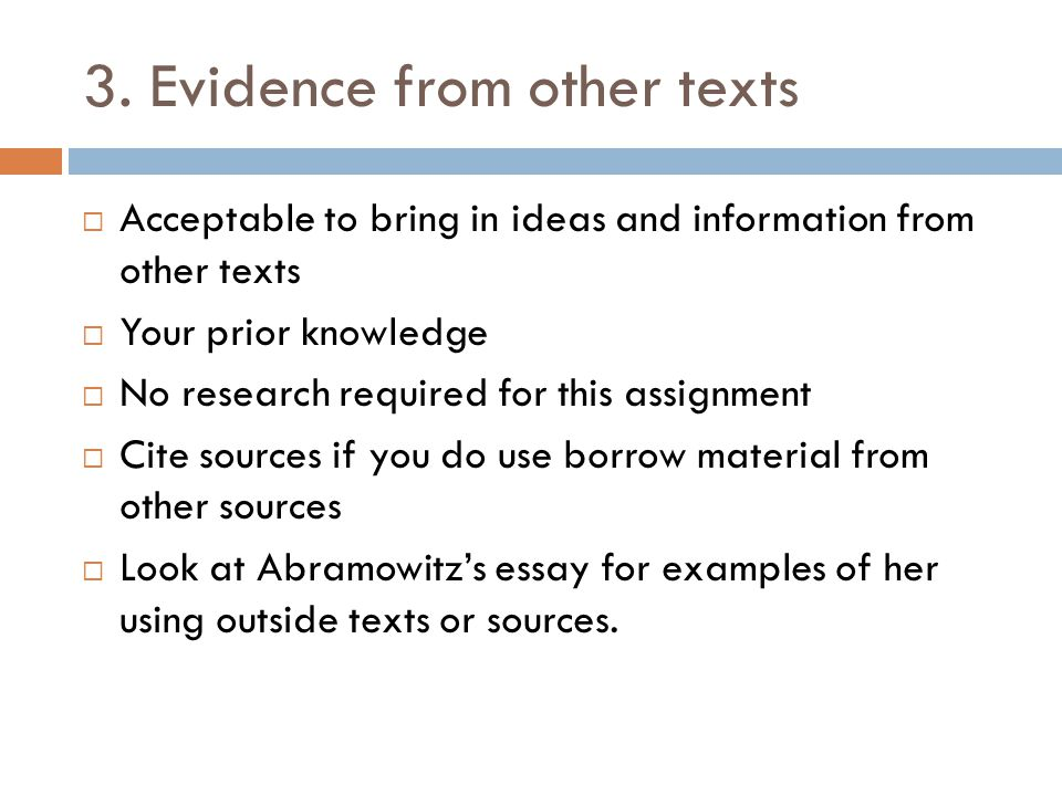 3. Evidence from other texts
