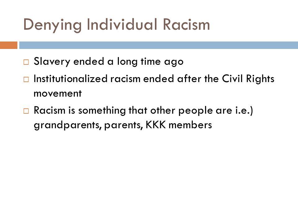 Denying Individual Racism