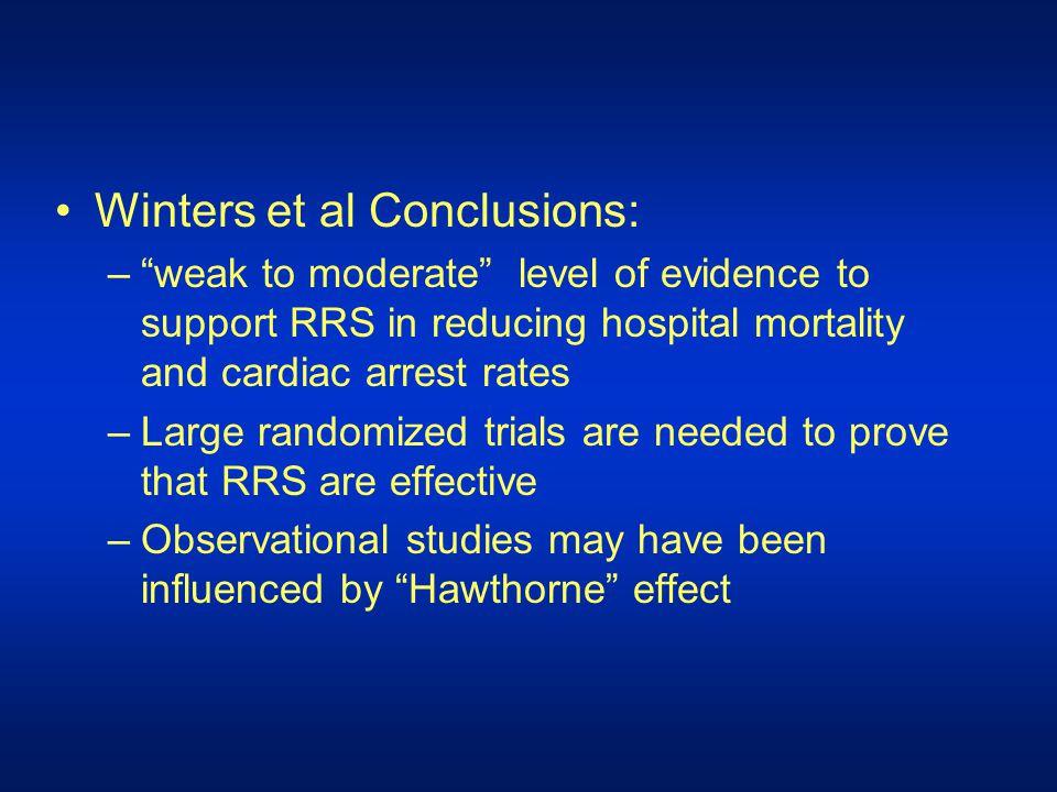 Winters et al Conclusions: