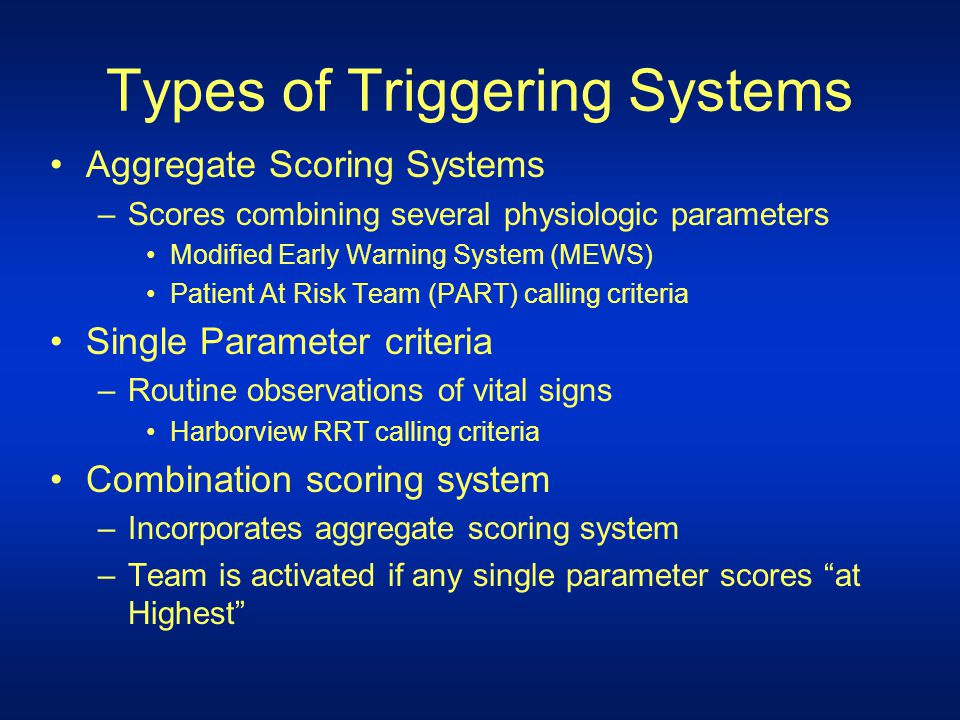 Types of Triggering Systems