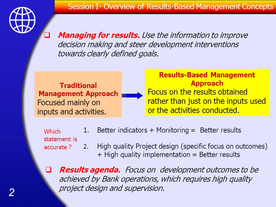 Traditional Management Approach