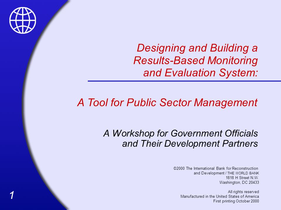 A Workshop for Government Officials and Their Development Partners