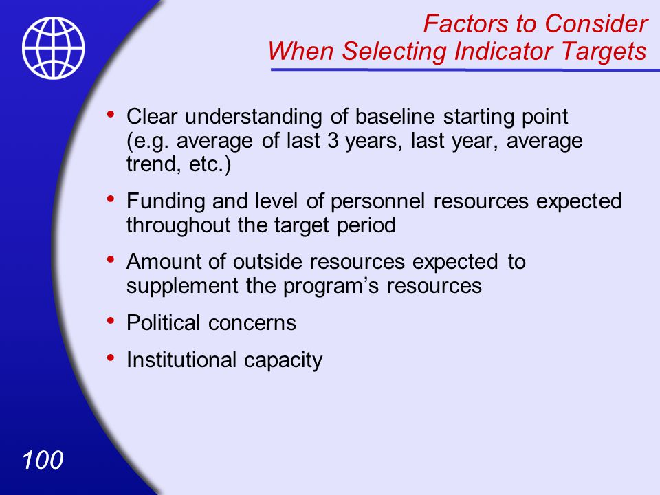 Factors to Consider When Selecting Indicator Targets